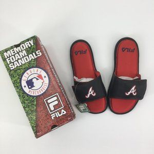 Fila MLB Slide Sandals Atlanta Braves Men's